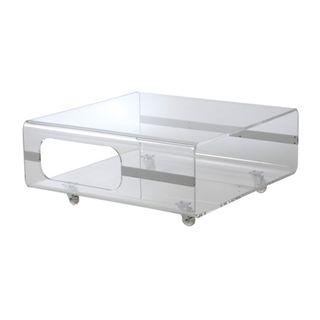 Euro Style Matthew Clear Acrylic Coffee Table