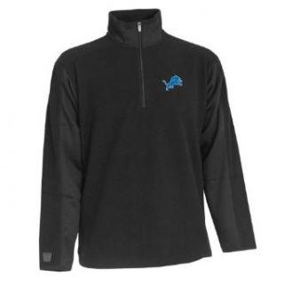 NFL Mens Detroit Lions 3/4 Zip Fleece Pullover Clothing