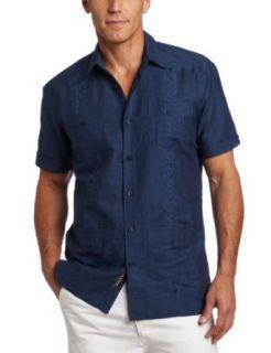 Cubavera Mens Short Sleeve Stripe Guayabera Shirt, Dress