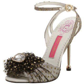 Betsey Johnson Womens Layla Ankle Strap Sandal,Black,5.5 M US Shoes