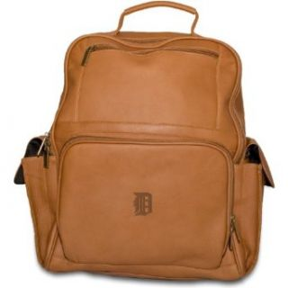 MLB Detroit Tigers Tan Leather Large Computer Backpack