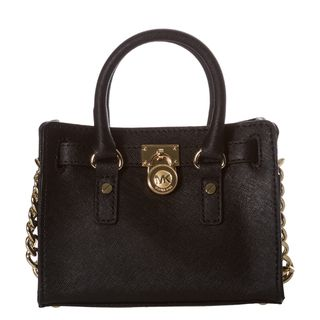 MICHAEL Michael Kors Mini Hamilton Black Saffiano Leather Messenger