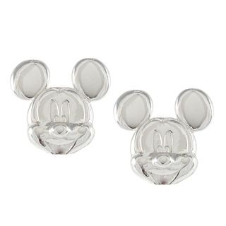 Disney Sterling Silver Mickey Mouse Stud Earrings