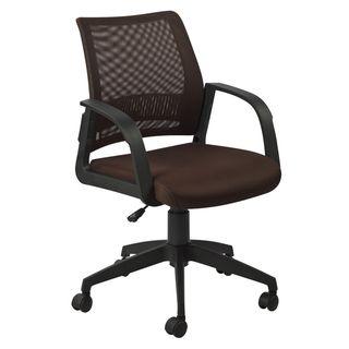 KD Furnishings Favorite Finds Deep Brown Mesh Back Office Chair