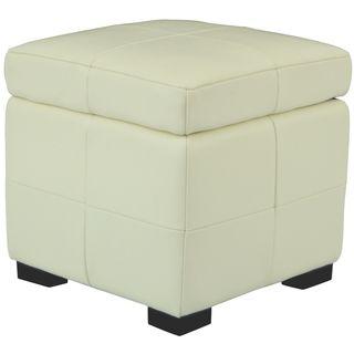 Lorenzo Small Flip top Off white Storage Ottoman