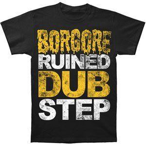 Rockabilia Borgore Ruined Dubstep Slim Fit T shirt Small