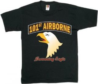 101st Airborne Eagle Looking Left   Air Force   Tee, Black