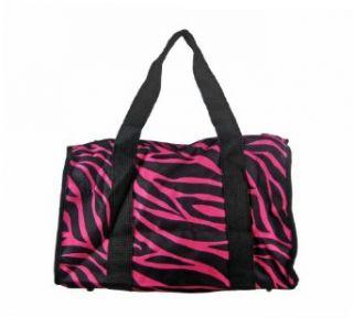19 Inch Black and Burgundy Zebra Duffle Bag Clothing
