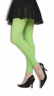 80s Neon Green Footless Tights Costume Accessory