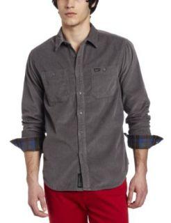 RVCA Mens Waler Long Sleeve Shirt Clothing