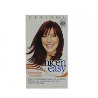 Clairol Nice N Easy Colorblend #113A Dark Burgundy Brown Hair Color