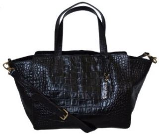 Cynthia Rowley Croco Embossed Leather Satchal Shoulder Bag
