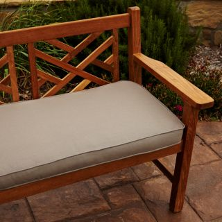 Clara Taupe 48 inch Outdoor Sunbrella Bench Cushion