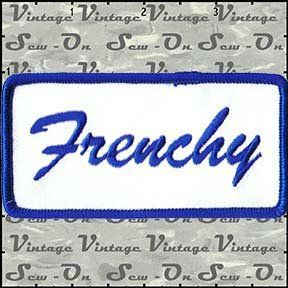 Name Tag Frenchy Sew On Uniform Appilque Patch FD