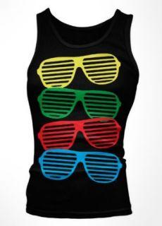 Colorful Shutter Shades Girls Tank Top, Boy Beater Retro