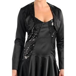 Stanzino Womens Black Dress and Jacket Set