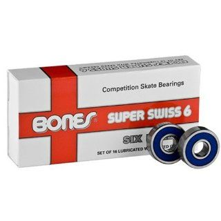 Bones Super Swiss 6 Ball skate bearings 608   16 pack