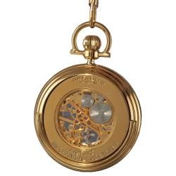 Akribos XXIV Mens Mechanical Gold Pocket Watch