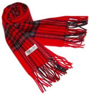 100% 2PLY CASHMERE 2PLY Mens / Womens Scarf Scottish Plaid