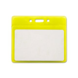 Reflective Yellow 3.5 inch x 2.5 inch Badge Holders (Pack of 25) Today