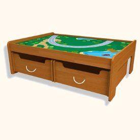 Honey Train Table Set   Includes 101 Piece Train Set Toys & Games