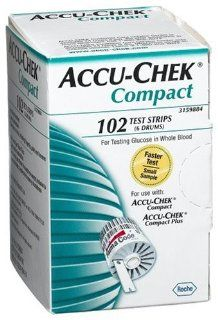 ACCU CHEK Compact Test Strips, 102 Count Box