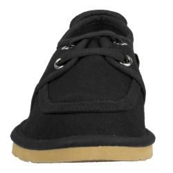 Lugz Mens Husk Black Canvas Slip on Shoes