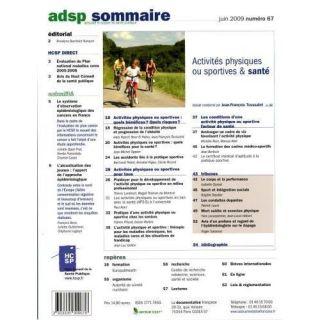 ACTIVITES PHYSIQUES OU SPORTIVES ET SANTE T.67   Achat / Vente livre