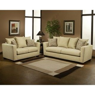 Lucille Eco Friendly Chenille Fabric 2 piece Sofa and Loveseat