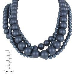 Roman Colored Faux Pearl 4 piece Necklace