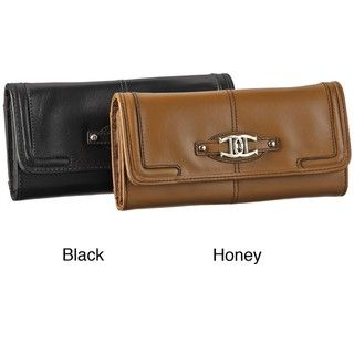 Etienne Aigner Womens Duncan Leather Clutch Wallet