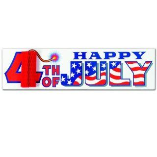 4th Of July Sign w/Tissue Firecracker Case Pack 108