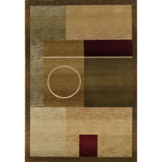 Baldwin Green/Brown Contemporary Area Rug (99 x 122)