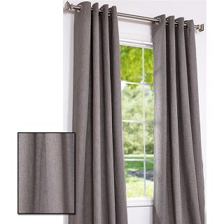Dark Grey Cotton Linen 120 inch Grommet Curtain Panel