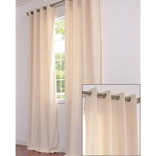 Signature Grommet Ivory Velvet 120 Inch Curtain Panel
