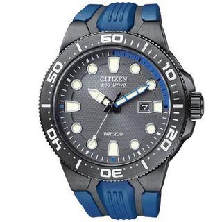 Citizen Mens Scuba Fin Eco drive Blue Polyurethane Strap Watch