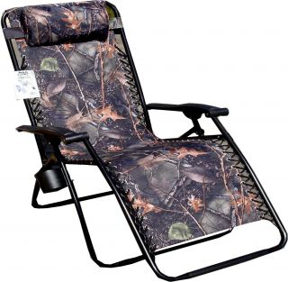 Jumbo Camo Zero Gravity Reclining Camp Chair