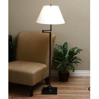 Antique Bronze Swing Arm Floor Lamp