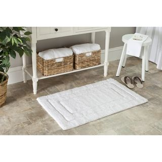 Spa 2400 Gram Tri White Bath Mats (Set of 2)