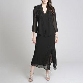 Richards Womens Beaded Jacket Dress