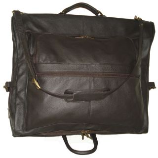 Amerileather Cowhide Leather Brown 3 suit Garment Bag