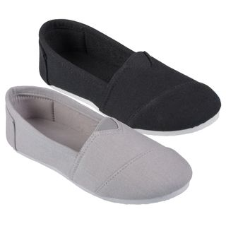 Journee Collection Kids Timmy Round Toe Linen Flats
