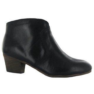 Clarks Melanie Jane Black Leather Womens Boots Size 9 US Shoes