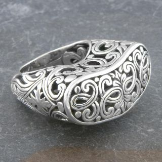 Sterling Silver Ornamented Cawi Bold Ring (Indonesia)