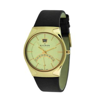 Skagen Mens Rose Gold Plated Watch