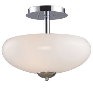Polished Chrome 3 light Semi Flush Light Fixture