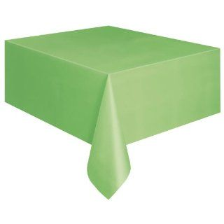 Lime Green Plastic Table Cover 54 x 108 Rectangle