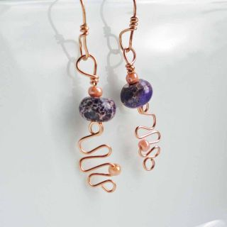 Praytor Project 14k Rose Gold Jasper Earrings