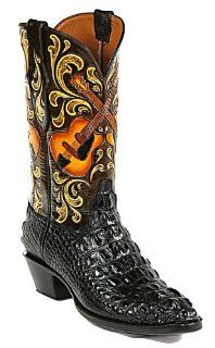 Black Jack Hand Tooled & Painted Cowboy Boot #HT113 Shoes