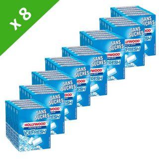 Chewing gum sans sucres   Packs de 5 étuis de 10 dragées, 72,5g